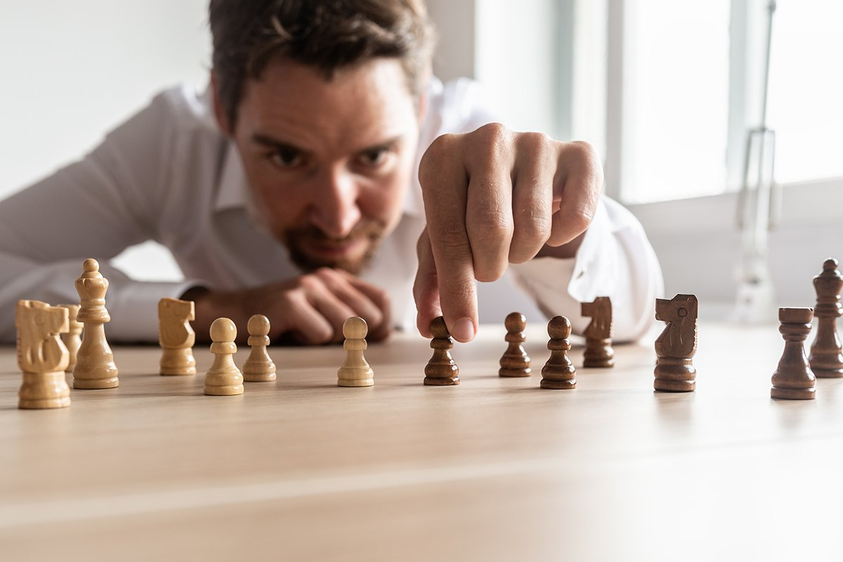 businessman creating strategy2
